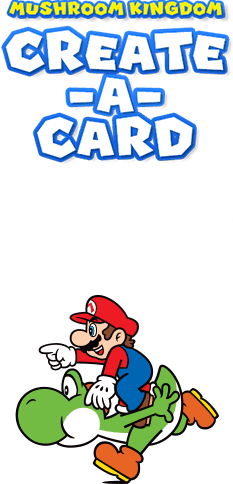 custom nintendo greeting card creator