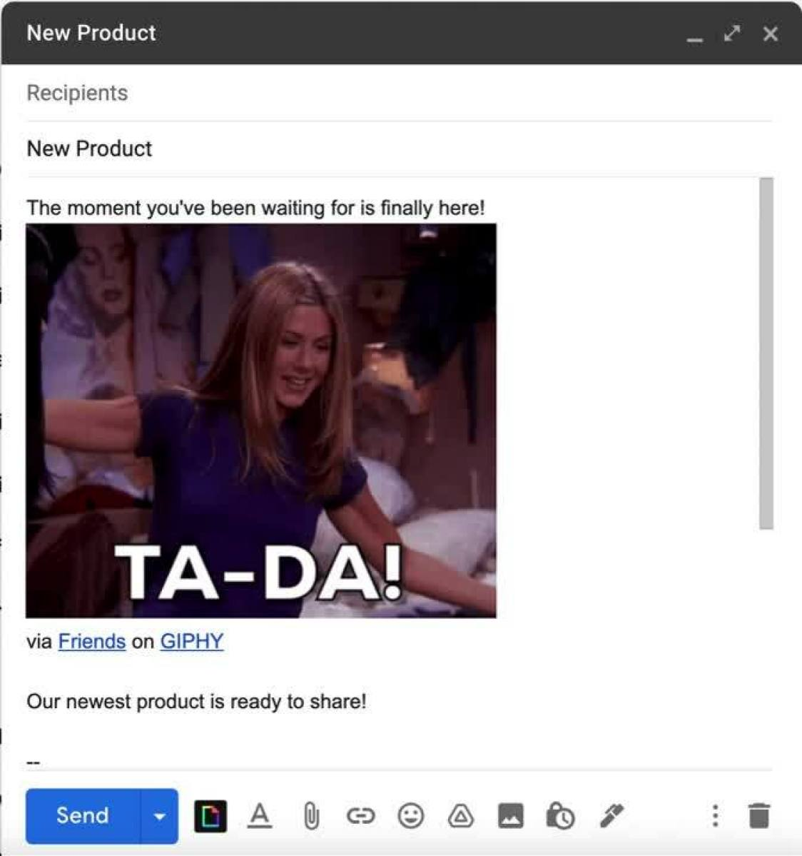 GIF in an email