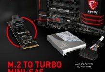 MSI Releasing M.2 to Turbo Mini-SAS add-in cards 3