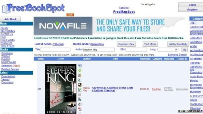 EBook piracy sites to be blocked by UK net providers