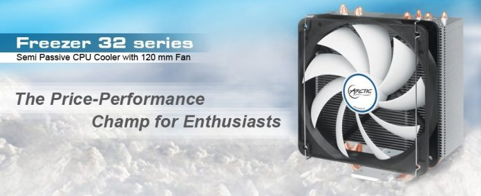 The Freezer i32/A32 is the first semi passive ARCTIC cooler 1
