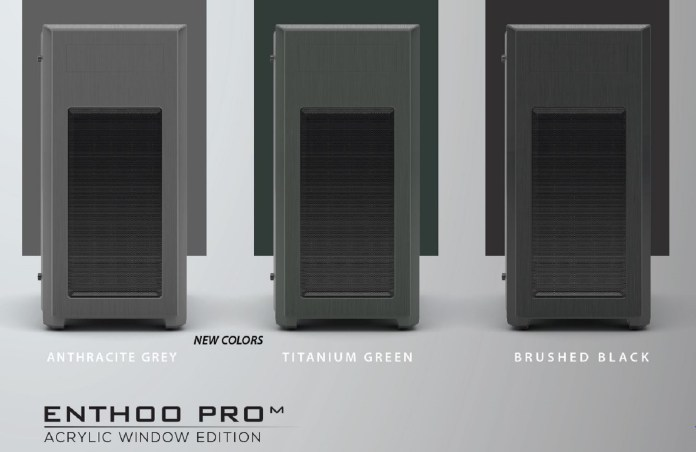 New Phanteks' Enthoo Pro M Acrylic Titanium Green and Anthracite Grey Edition