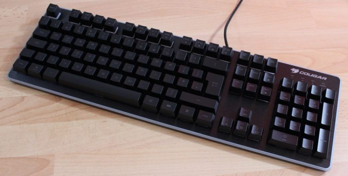 Cougar deathfire keyboard closeup