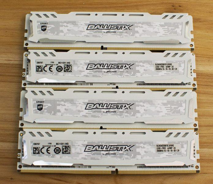 Ballistix Sport LT 2666MHz DDR4 16GB 4x4GB