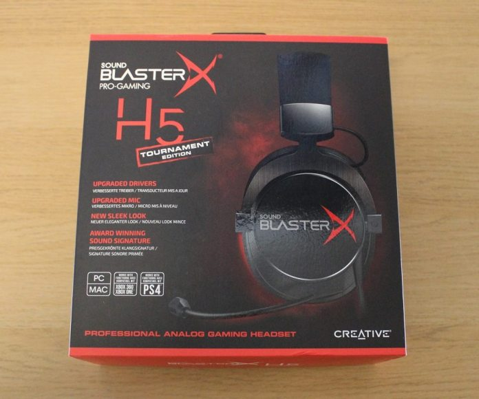 sound blaster H5 box front