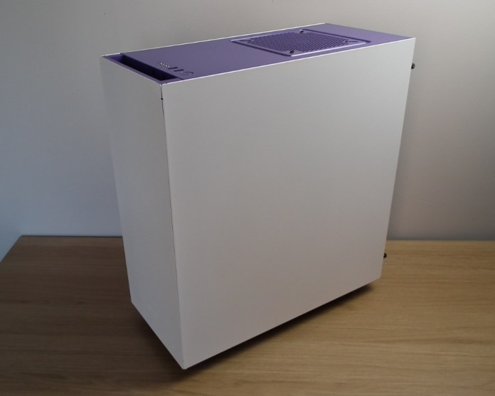NZXT S340 White Rear
