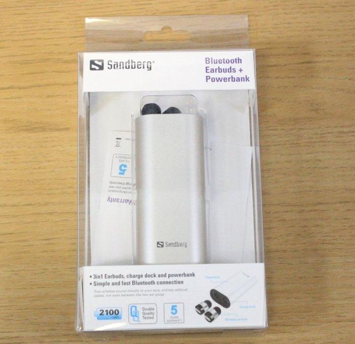 sandberg earbuds powerbank packaging front