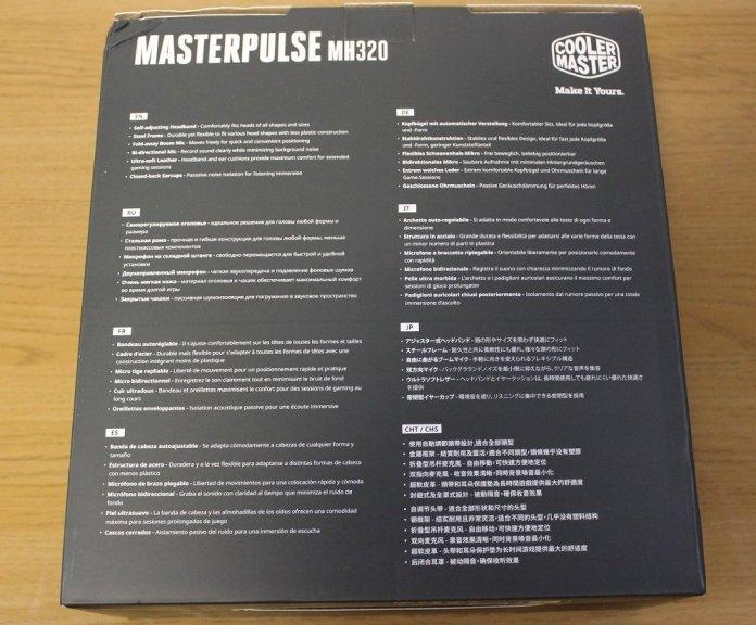 CM Masterpulse MH320 box back