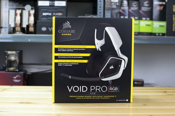 Corsair VOID PRO USB RGB Gaming Headset Box