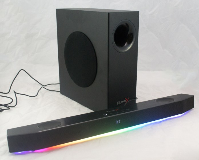 Creative SoundBlasterX Katana Soundbar And Woofer