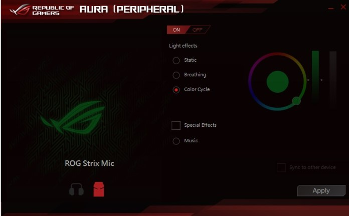 aura peripheral screen