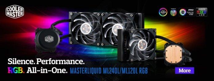 Cooler Master MasterLiquid ML240L RGB and MasterLiquid ML120L RGB banner