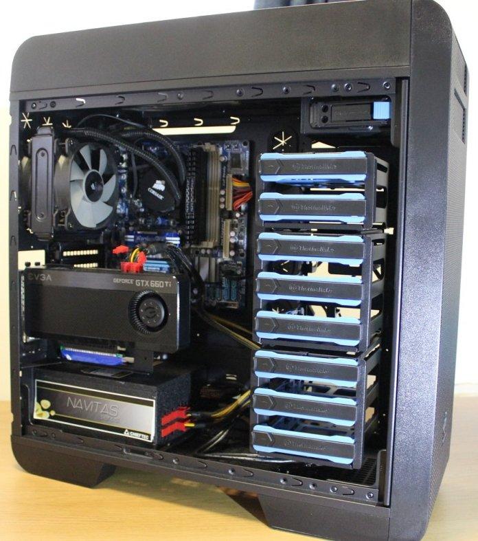 thermaltake core 71 build vertical gpu