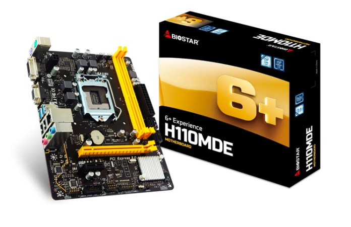 BIOSTAR Introduces H110MDE Affordable Performance M-ATX Motherboard