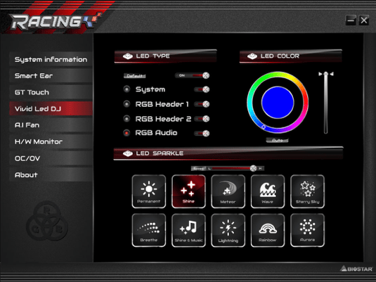 BIOSTAR RACING X470GTN Software 2