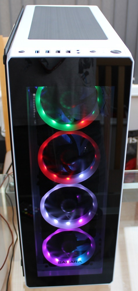 sahara p75 rgb effects and overhanging glass