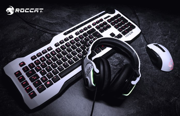 ROCCAT Khan AIMO and Kone Pure Now Available in White