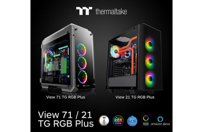 Thermaltake New View 21 TG RGB Plus Mid Tower Chassis and View 71 TG RGB Plus Full Tower Chassis _1-1