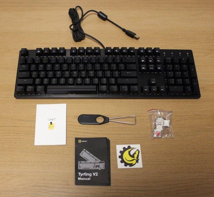 drevo tyrfing v2 keyboard box contents