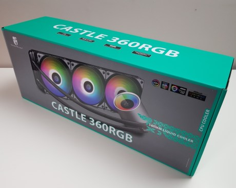 Best 360mm AIO CPU coolers 2019: Gamer Storm Castle 360RGB box