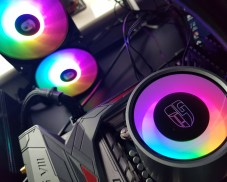 Best 360mm AIO CPU coolers 2019: Gamer Storm Castle 360RGB rgb