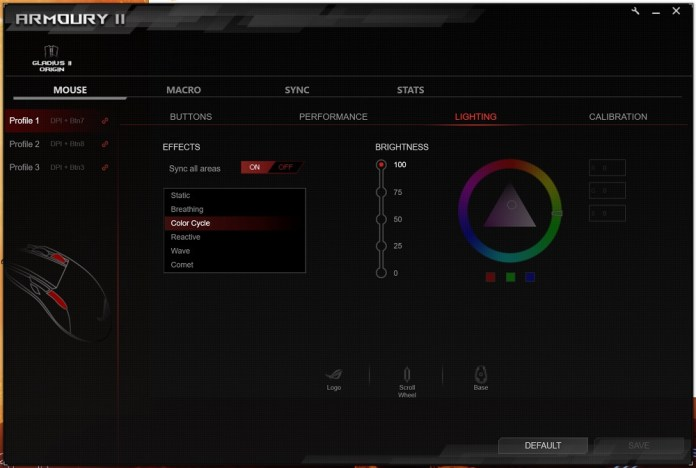 rog amoury RGB screen