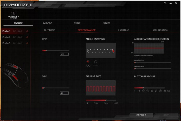 rog amoury performance screen