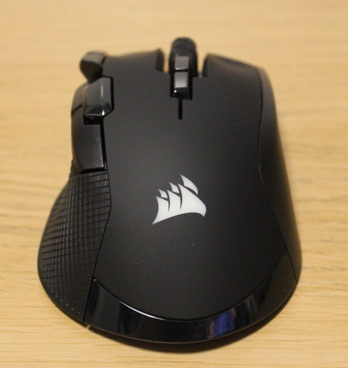Corsair Ironclaw RGB Wireless Rear and top view