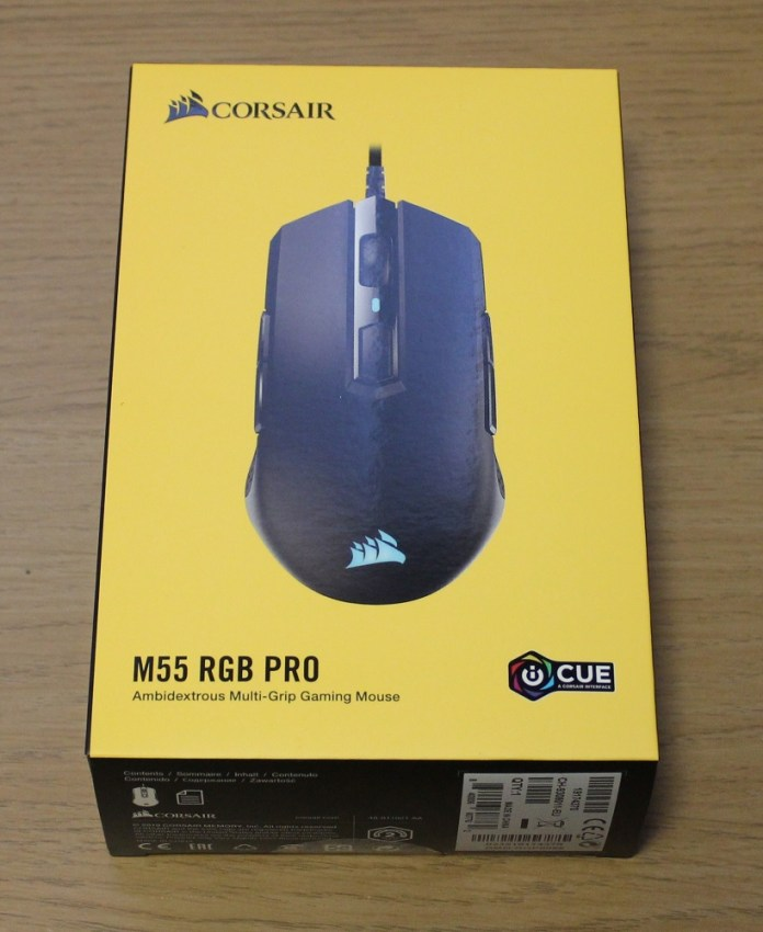 Corsair M55 RGB Pro box top