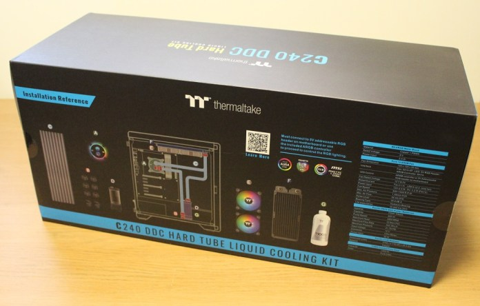 Thermaltake C240 DDC Hard Tube box back