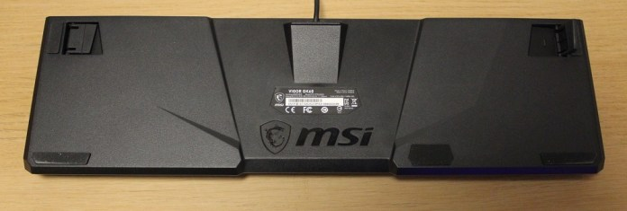 MSI Vigor GK60 Keyboard bottom