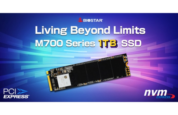 BIOSTAR Launches the New M700 1TB M.2 PCIe NVMe SSD