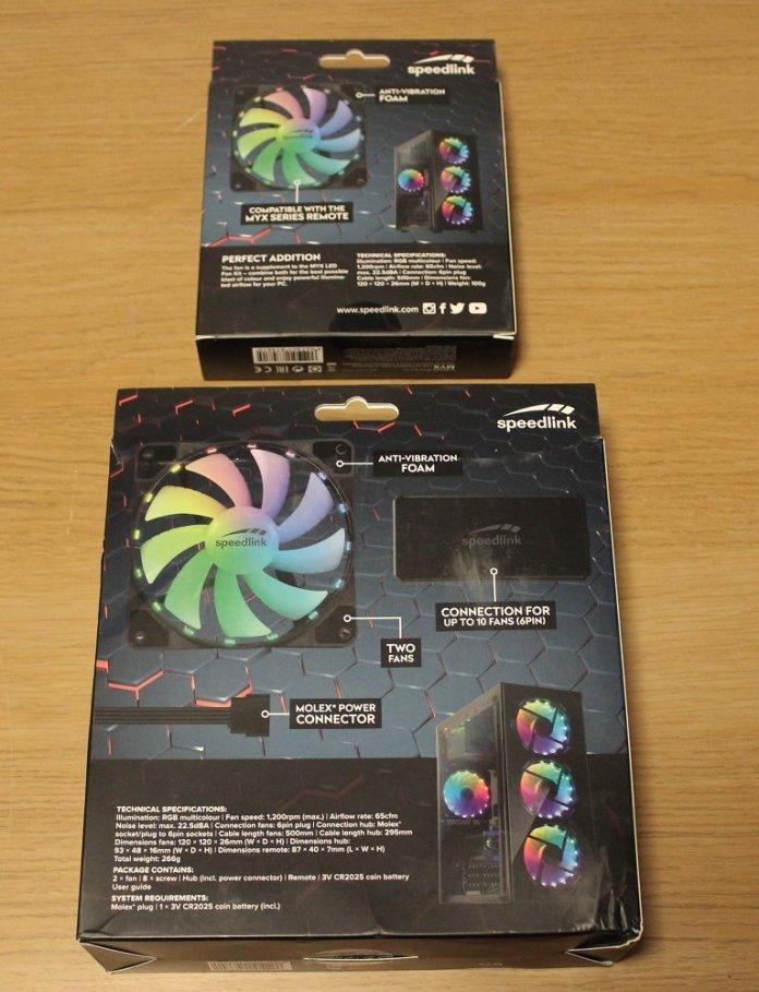 Speedlink MYX LED Fan Kit box bottom