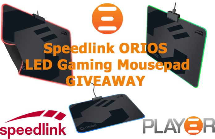 SPEEDLINK ORIOS LED Mousepad Giveaway