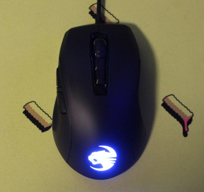 Roccat Kone Pure Ultra mouse powered on