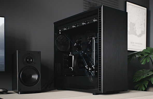A watercooled build using a Fractal Design Define 7 XL, dualing dual CPUs and a large top radiator.