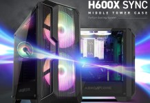 ABKONCORE H600X SYNC from the side and front left angle.