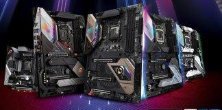 Five ASRock Intel 40 series motherboards for Comet Lake