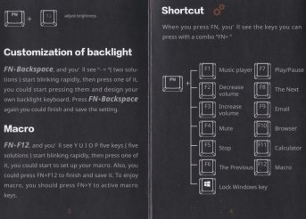 The English manual for the Sahara Gaming R20 keyboard, pages 3 and 4