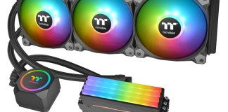 The Thermaltake Floe RC360 with TOUGHRAM RC modules.
