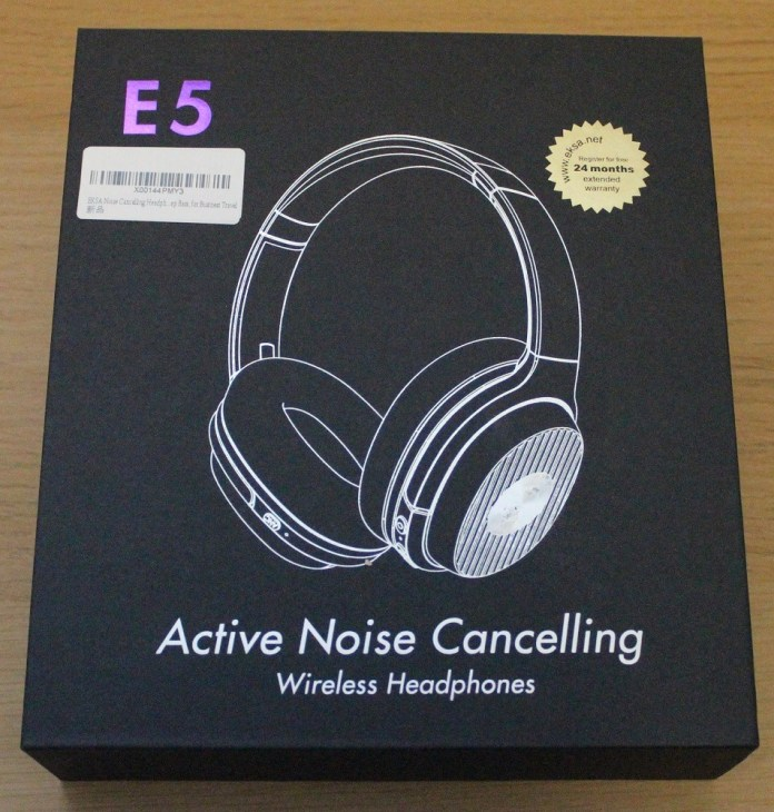 EKSA E5 ANC Wireless Headphones Box top