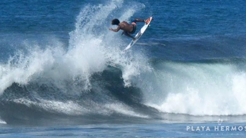 Surfing at Playa Hermosa, Costa Rica October 21, 22 & 23 2019