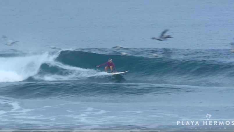 Surfing at Playa Hermosa, Costa Rica December 20, 2019