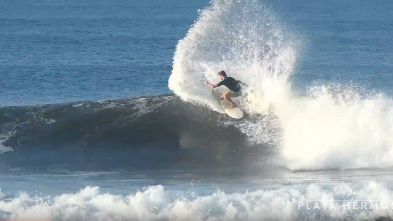 Surfing at Playa Hermosa, Costa Rica February 28, 2020