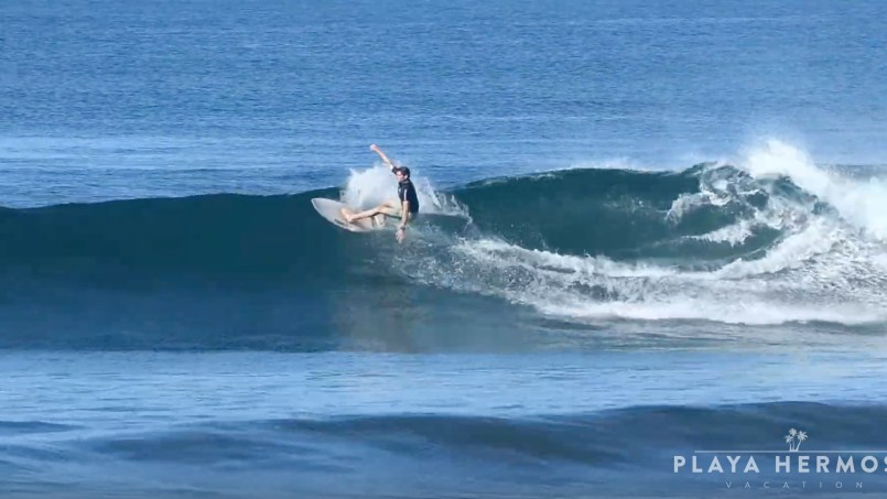 Surfing at Playa Hermosa, Costa Rica March 1, 2020