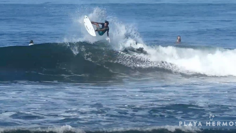 Surfing at Playa Hermosa, Costa Rica March 3, 2020