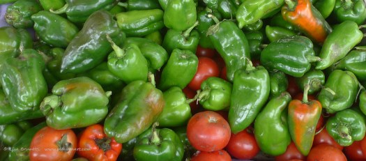 At ten cents each, the peppers add little to my financial or physical load!