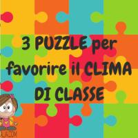Accoglienza: PUZZLE per favorire il CLIMA DI CLASSE