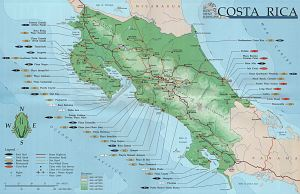 Costa Rica Surf Map