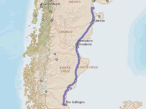 Como llegar a Playas Doradas desde Rio Gallegos